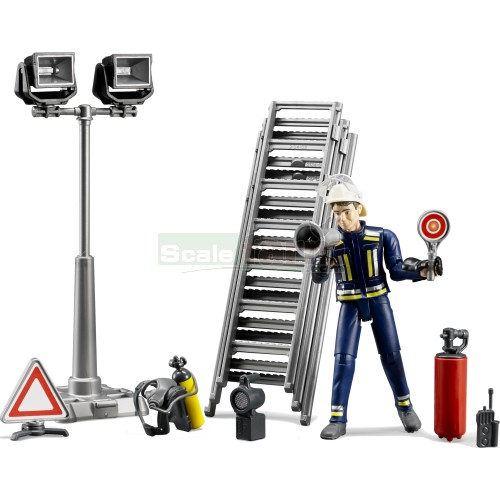 bworld Fire Fighter Figure and Accessory Set (Bruder 62700)