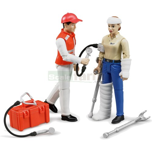 bWorld Emergency Services Figure and Accessory Set (Bruder 62710)