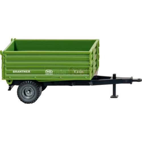 Brantner E6535 Single Axle Tipping Trailer - Green (Wiking 038810)