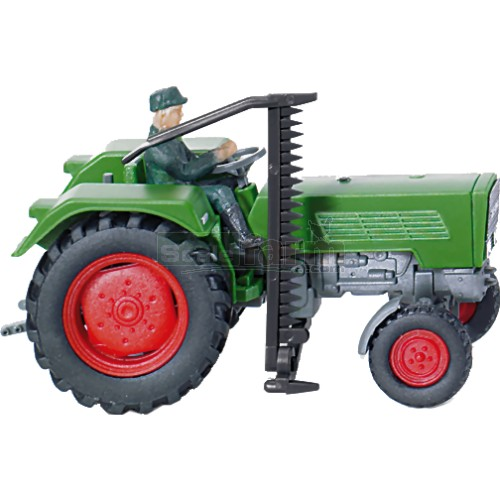 Fendt Farmer IIS Vintage Tractor with Cutter and Driver (Wiking 089040)