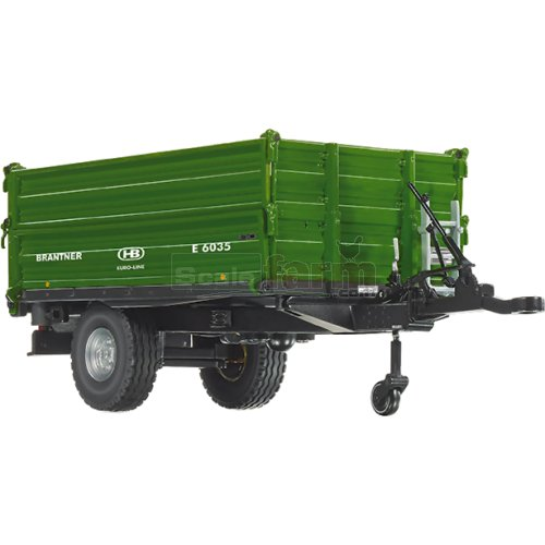 Brantner E 6035 Single-Axle Threeside Tipping Trailer (Wiking 7348)