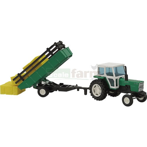 Ebro 6100 Tractor with Tipping Trailer (Joal 251)