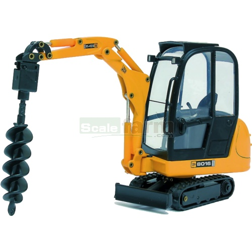 JCB 8016 Mini Excavator with Earth Drill (Joal 268)