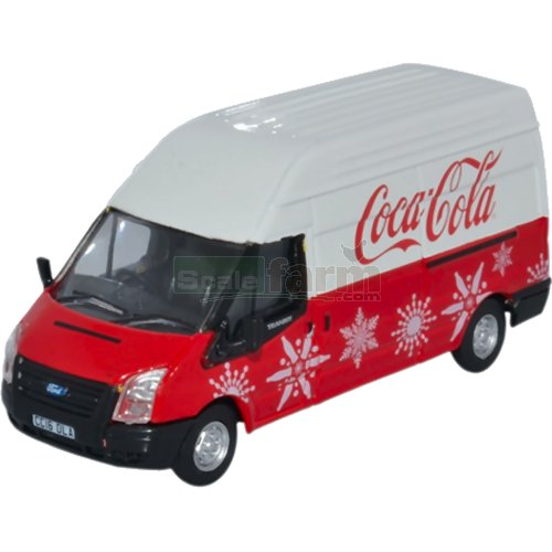 Ford Transit LWB High Roof - Coca Cola Xmas (Oxford Diecast 76FT030CC)