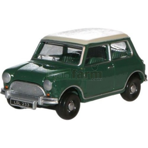 Austin Mini - Almond Green/Old English White (Oxford 76MN003)