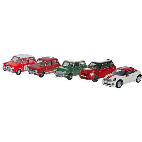 Mini Five Car Set (Oxford 76SET21)