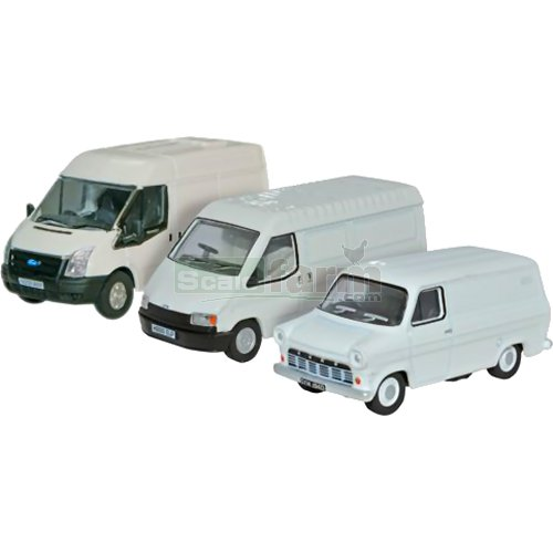 Ford Transit 50th Anniversary Set - Mk1/Mk3/Mk5 (Oxford 76SET37)