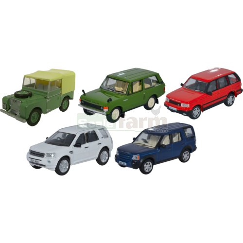 Land Rover Classic 5 Car Set (Oxford 76SET49)