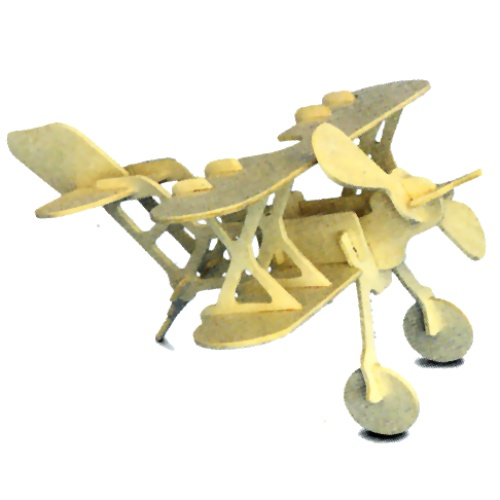 Bi-Plane Woodcraft Construction Kit (Quay P002)