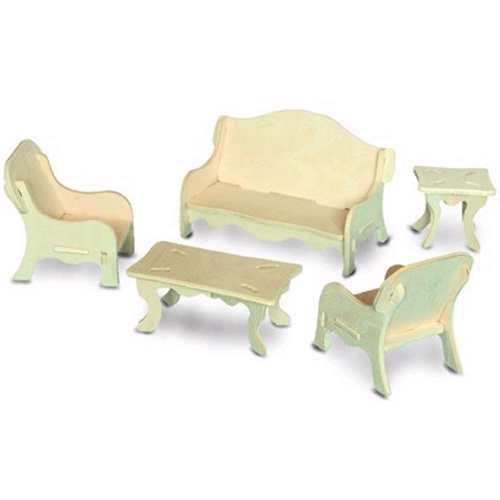 Living Room Furniture Woodcraft Construction Kit (Quay P008)