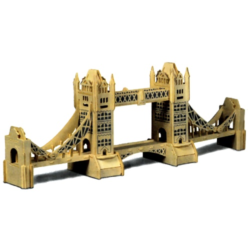 Tower Bridge Woodcraft Construction Kit (Quay P055)