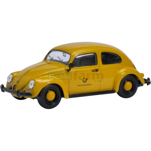 VW Beetle - Deutsche Bundespost (Yellow) (Schuco 07739)