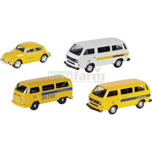 VW 4 Piece Set - Lufthansa (Schuco 25959)