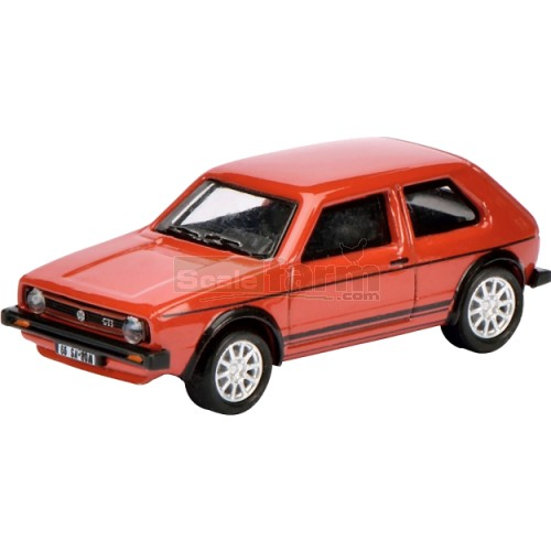 VW Golf Mk1 GTi - Red (Black Stripping) (Schuco 26086)