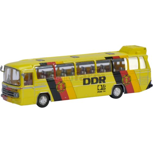 Mercedes Benz 0302 Bus - DDR Football Team 1974 (Schuco 26158)