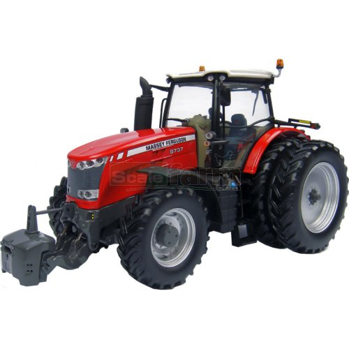 Massey Ferguson 8737 Tractor with 6 Wheels (Universal Hobbies 4261)