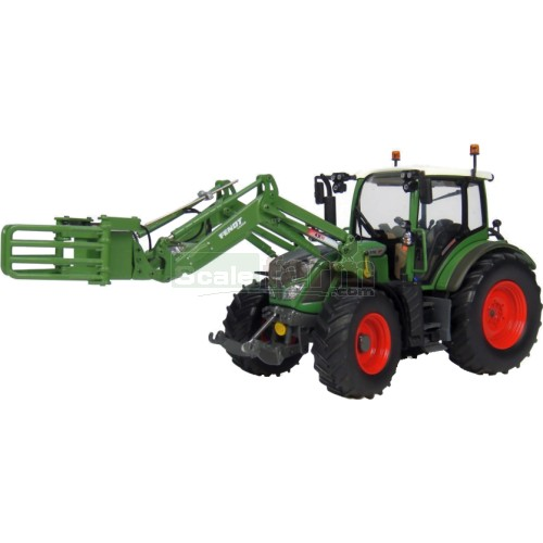 Fendt 516 Vario Tractor with Front Bale Grab (Universal Hobbies 4271)