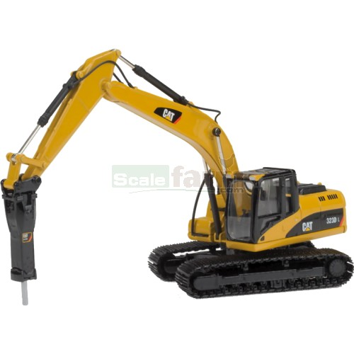 CAT 323D Hydraulic Excavator with Hammer (Norscot 55282)