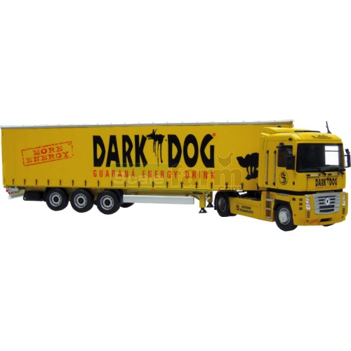 Renault Magnum & Krone 'Dark Dog' Trailer plus Trailer Keyring (Universal Hobbies 5685)