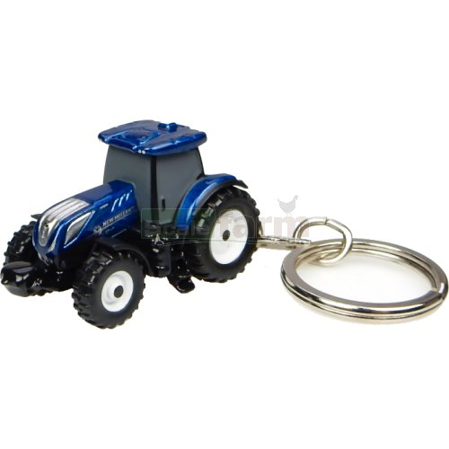 New Holland T7.225 'Blue Power' Tractor Keyring (Universal Hobbies 5814)