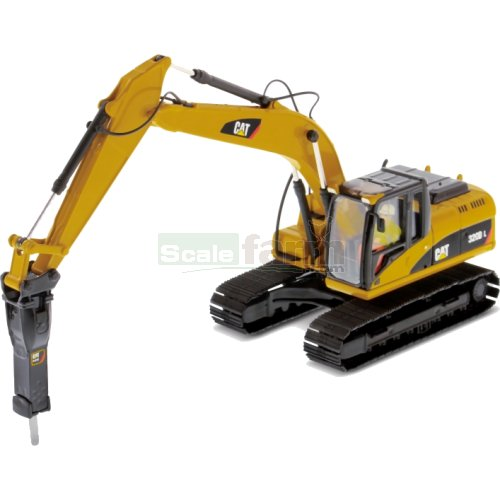 CAT 320D L Hydraulic Excavator with Hammer (Diecast Masters 85280)