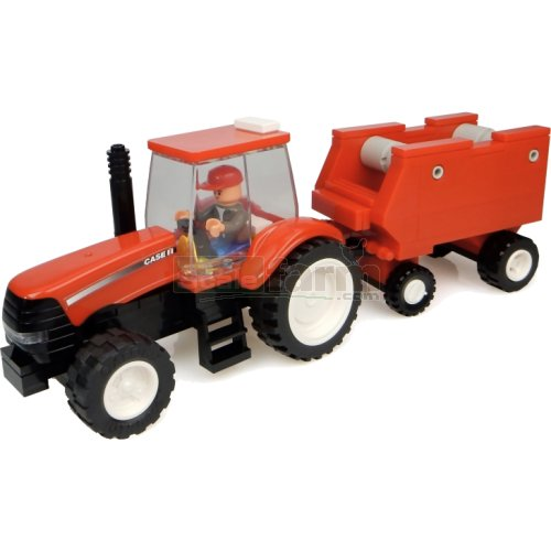 Case IH Tractor with Hay Baler Building Block Kit (Universal Hobbies K1208)