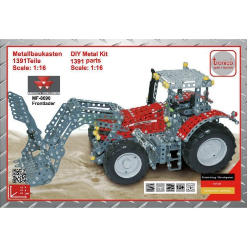 Massey Ferguson 8690 Tractor with Frontloader Construction Kit (Tronico 10081)