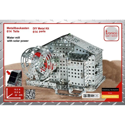 Water Mill with Solar Power Construction Kit (Tronico 10133)