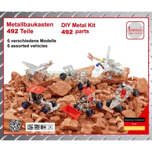 6 Vehicle Metal Construction Kit Set (Tronico 10150)