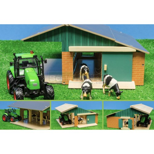 Farm Set with Barn, tractor and Cows (Kids Globe 610049)