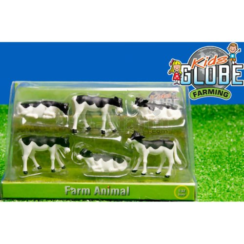 Black and White Calves (Pack of 6) (Kids Globe 571974)