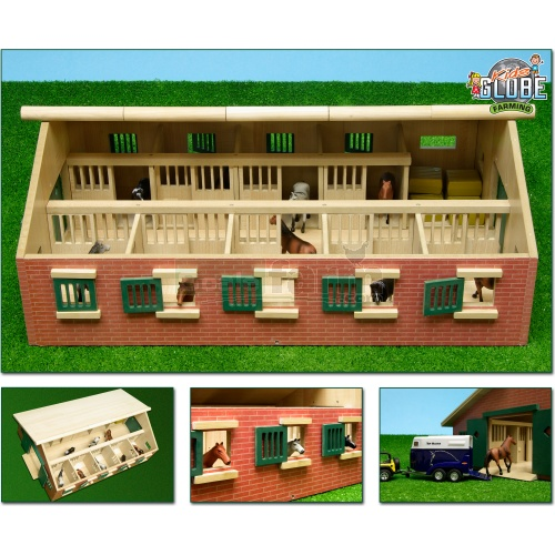 Wooden Horse Stable with Storage Room (Kids Globe 610544)
