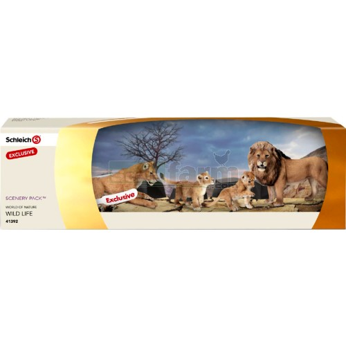Schleich 41392 Scenery Pack Lion Family Set Of 4 Lions