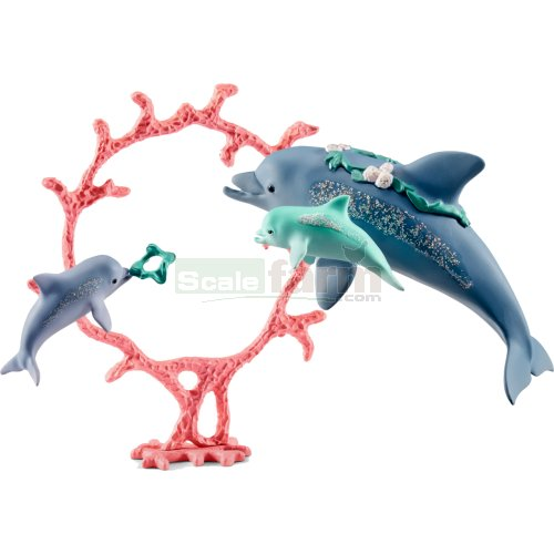 Dolphin, Babies and Accessories Set (Schleich 41463)