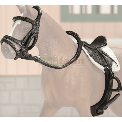 Shop Jumping Saddle and Bridle Set (Schleich 42123)