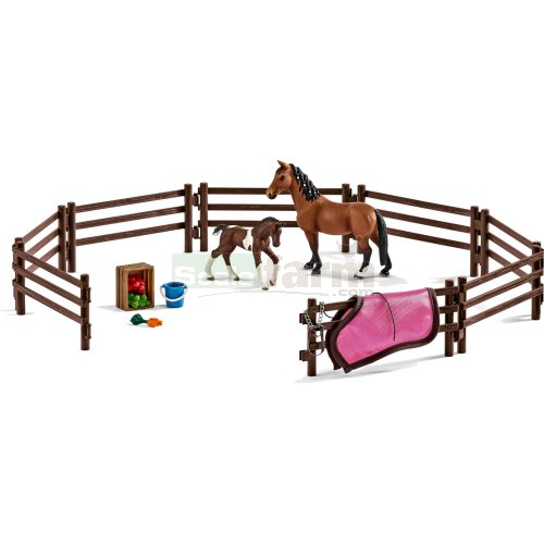 Horse, Foal, Paddock and Accessories Set (Schleich 42192)
