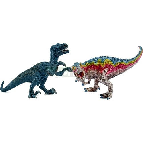 T-Rex and Velociraptor Set - Small (Schleich 42216)