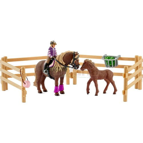 Rider and Icelandic Ponies, Fencing and Accessories (Schleich 42363)