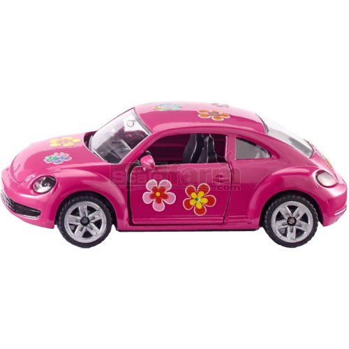 VW Beetle - Pink with Flower Stickers (SIKU 1488)