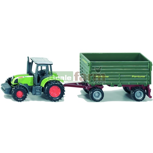 CLAAS Ares 697 ATZ Tractor with Fortuna Trailer (SIKU 1634)
