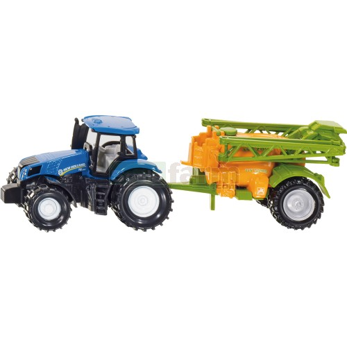 New Holland T8.390 Tractor with Amazone UX 5200 Crop Sprayer (SIKU 1668)