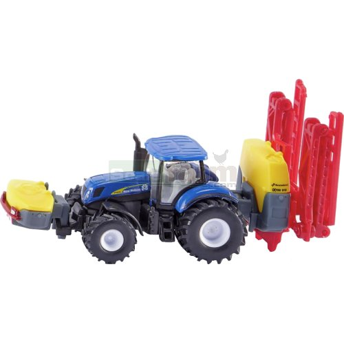 New Holland T7070 Tractor with Kverneland iXter B18 Crop Sprayer (SIKU 1799)