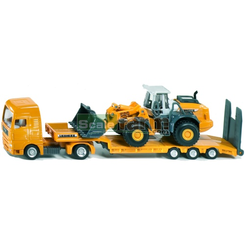Liebherr Low Loader with 580 Wheel loader (SIKU 1839)