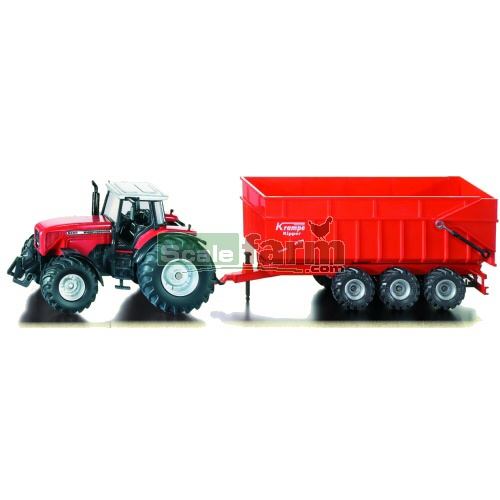 Massey Ferguson 8480 Tractor with Krampe Trailer (SIKU 1844)