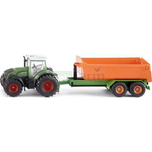 Fendt 936 Vario Tractor with Hooklift Trailer (SIKU 1989)