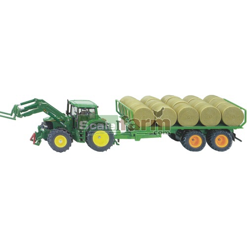 John Deere 6920 Tractor with Front Loader and Bale Trailer (SIKU 3862)