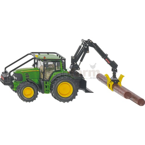 John Deere 7530 Forestry Tractor with 4 Tree Trunks (SIKU 4063)