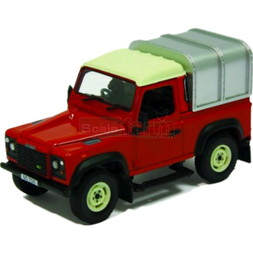 Land Rover Defender 90 with Canopy (Red) (Britains 42732)