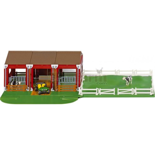 Siku World Stable Set with Vehicle, Cows and Accessories (SIKU 5603)