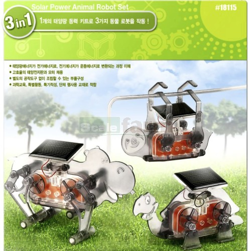 Solar Powered Animal Robot Educational Model Kit (Academy 18115)